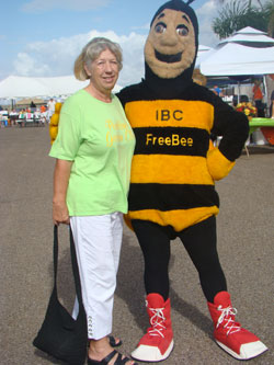 Pat Zylks with the IBC Free Bee
